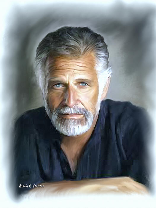 One Of The Worlds Most Interesting Man - In Oil Painting  - One Of The Worlds Most Interesting Man - In Oil Fine Art Print