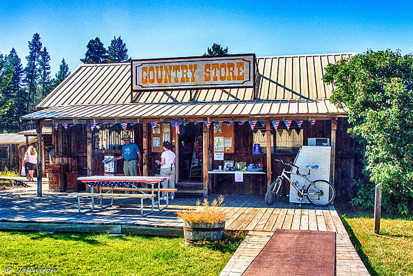 Deschutes River Photograph - Oregon Country Store by Bob and Nadine Johnston
