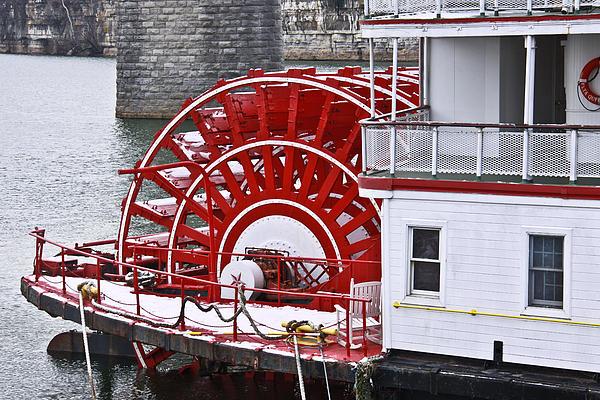 Delta Queen Photograph - Paddle Wheel by Tom and Pat Cory