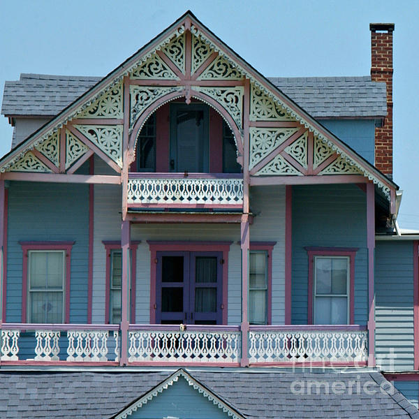 Homes Photograph - Painted Lady In Ocean Grove Nj by Anna Lisa Yoder