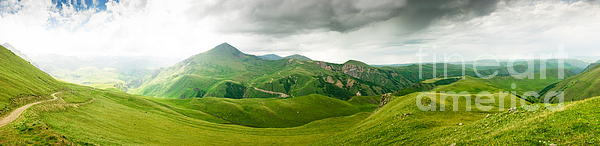 Panoramic  Photograph - Panoramic Green Mountains by Boon Mee