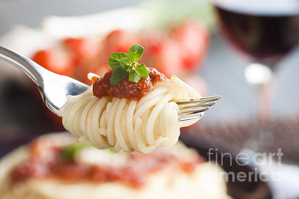 Juicy Photograph - Pasta With Ingredients by Mythja  Photography
