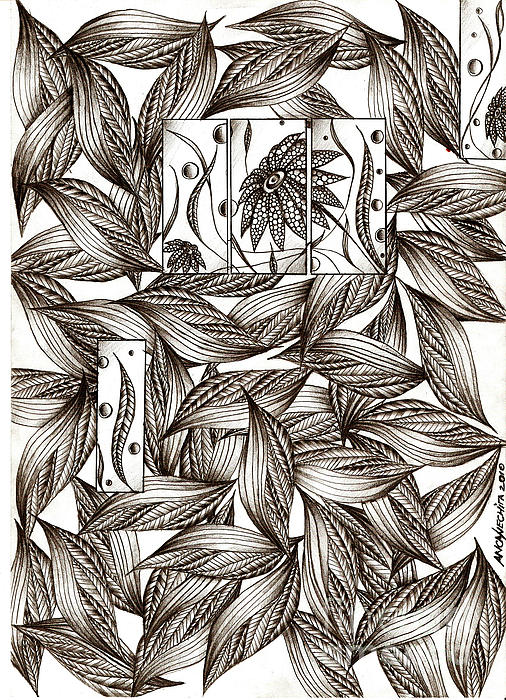 Leaves Drawing - Path by Anca S