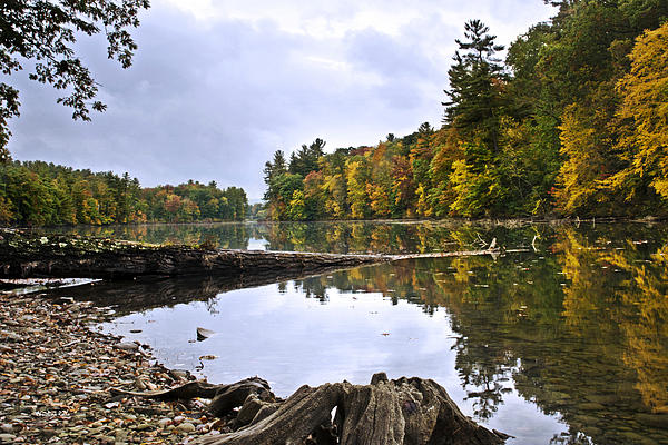 Peaceful Autumn Lake Photograph