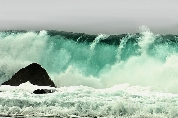 Crashing Wave Photograph - Pebble Beach Crashing Wave by Artist and Photographer Laura Wrede