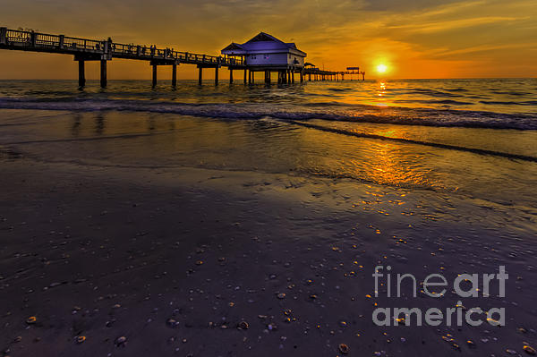 Pier Into The Sun Photograph  - Pier Into The Sun Fine Art Print