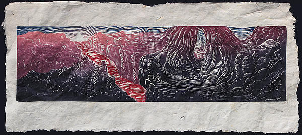 Surreal Landscape Relief - Place Of Emergence by Maria Arango Diener