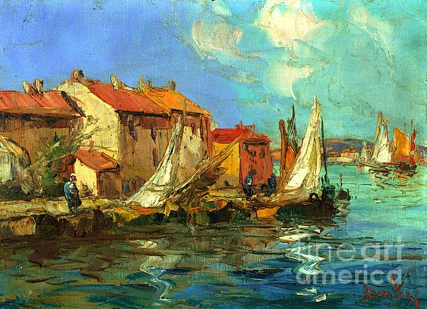 Sail Boats Painting - Plein Air One by Michael Swanson