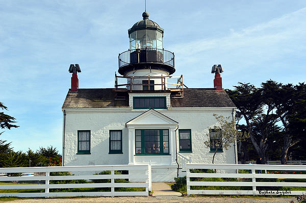 Point Pinos Lighthouse Digital Art - Point Pinos Lighthouse by Barbara Snyder
