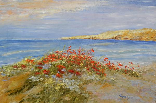 Maria Karalyos - Poppies on the beach