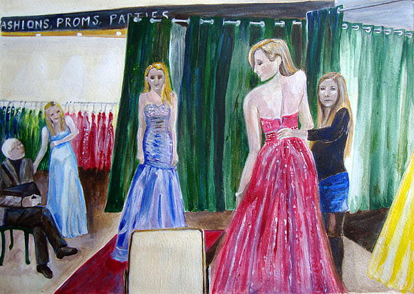 Prom Dress Painting  - Prom Dress Fine Art Print