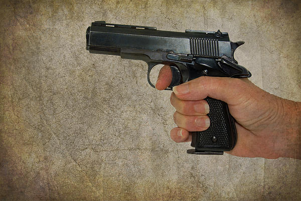Gun Photograph - Protecting Your Home by Charles Beeler