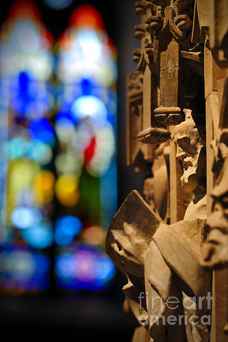 Church Photograph - Pulpit Trinity Cathedral Pittsburgh by Amy Cicconi