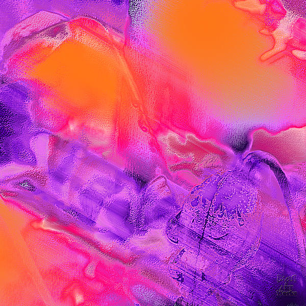 Dee Flouton - Purple Orange Pink Abstract