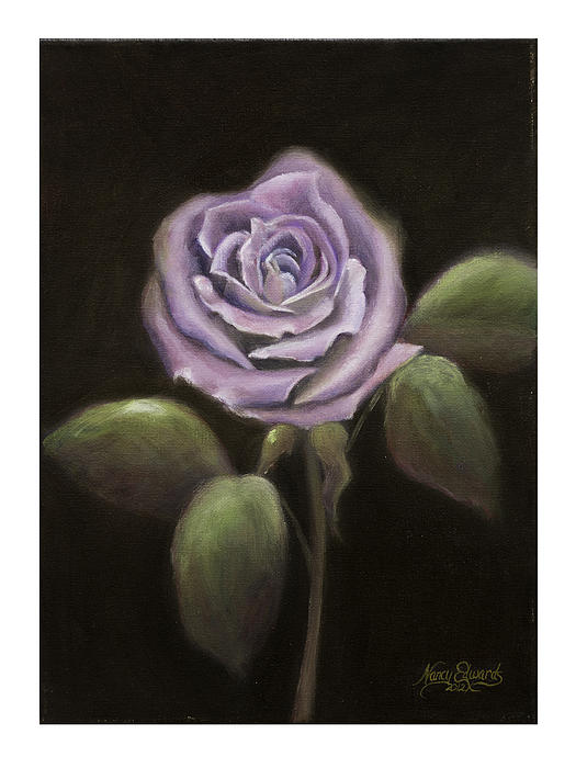 Flower Painting - Purple Passion by Nancy Edwards