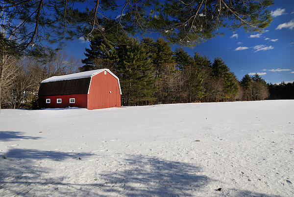 Barn Photograph - Red Barn In Hollis by Lee Fortier