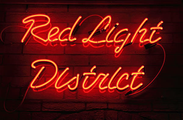 Red Photograph - Red Light District by Kiril Stanchev