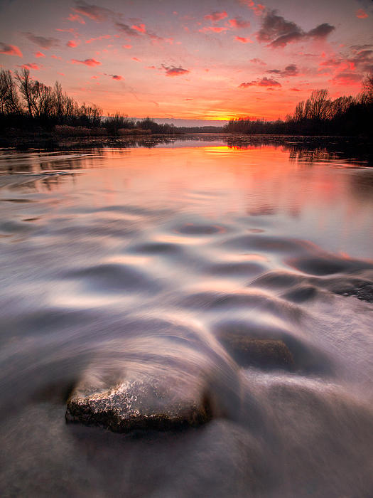 Landscapes Photograph - Red Sunset by Davorin Mance