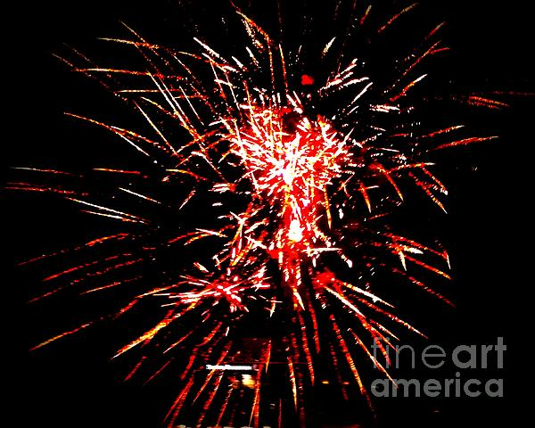 Red White Photograph  - Red White Fine Art Print