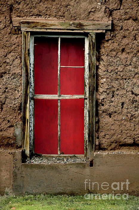 Lawrence Costales - Red Window On Adobe