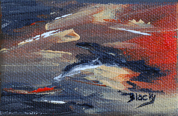 Abstract Painting - Remains Of The Day by Donna Blackhall