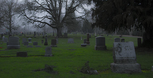 Cemetery Photograph - Restful Night by Jean Noren