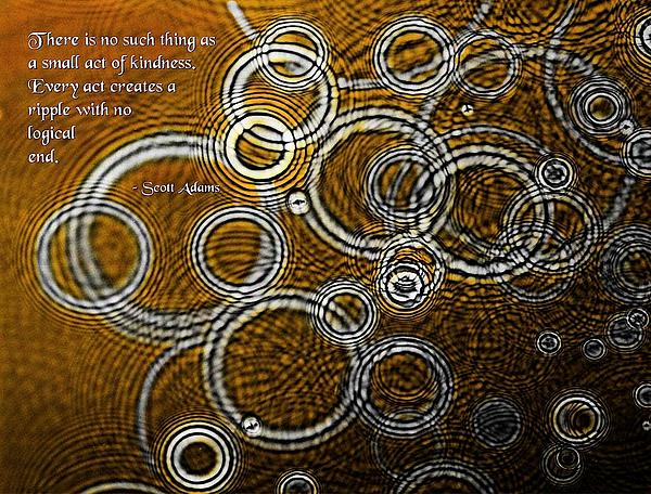 Quotations Photograph - Ripples by Mike Flynn