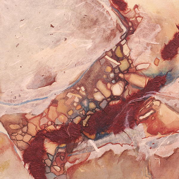 River Painting - River Rock by Carlynne Hershberger