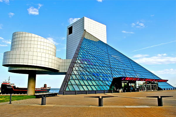 Rock Photograph - Rock N Roll Hall Of Fame by Frozen in Time Fine Art Photography