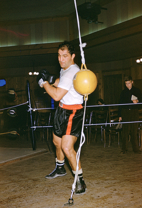 Marvin Newman Photograph - Rocky Marciano Training Hard by Retro Images Archive
