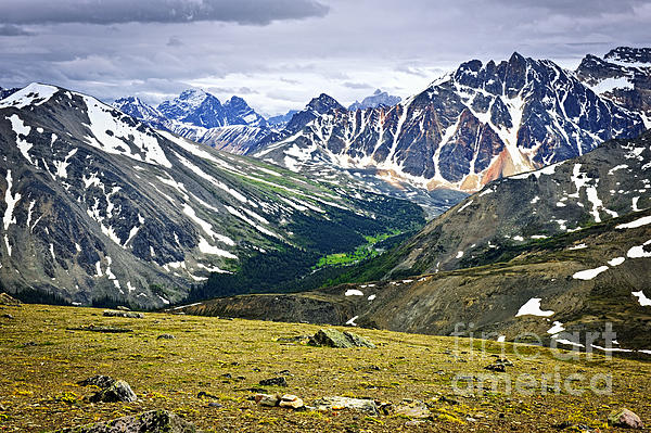 Rocky Mountains In Jasper National Park Photograph