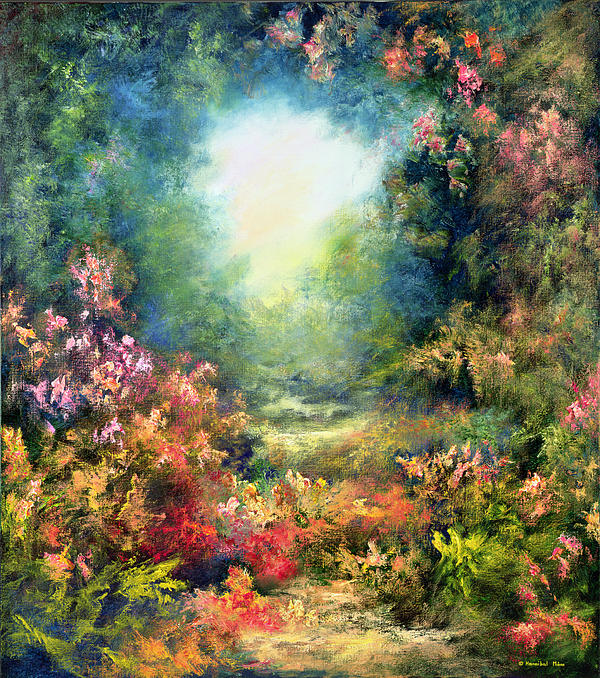 Garden Painting - Rococo Delight by Hannibal Mane
