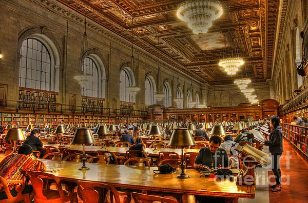 Rose Reading Room Photograph  - Rose Reading Room Fine Art Print