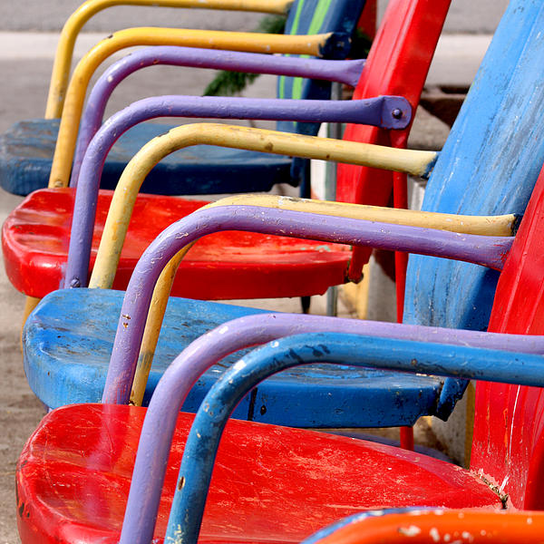Route 66 Chairs Photograph  - Route 66 Chairs Fine Art Print