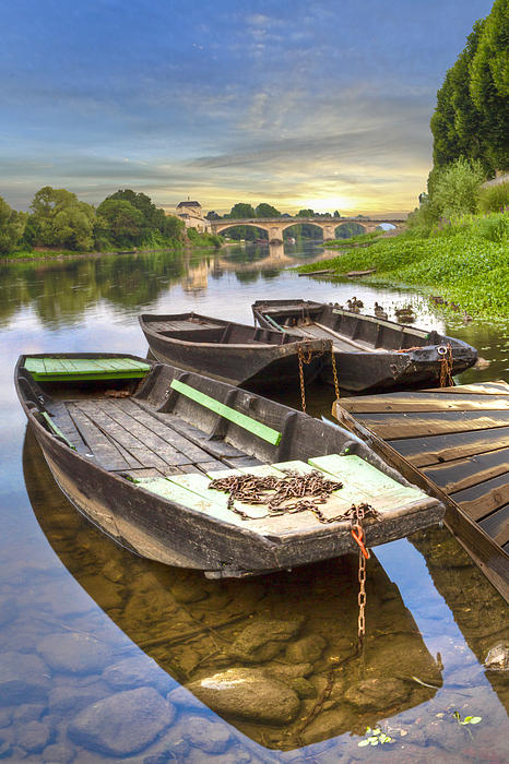 Austria Photograph - Rowboats On The French Canals by Debra and Dave Vanderlaan