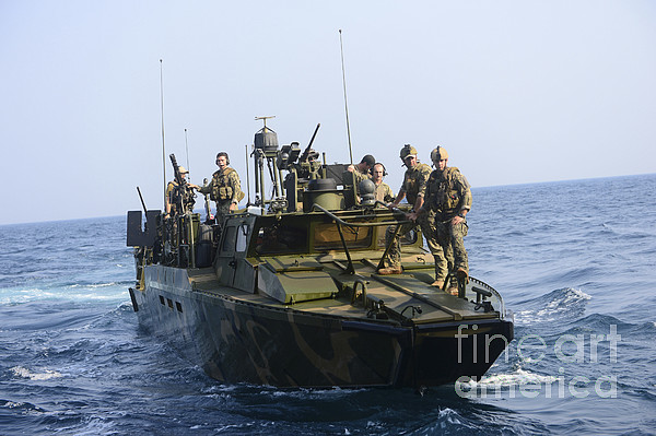 Military Photograph - Sailors Conduct Patrol Operations by Stocktrek Images
