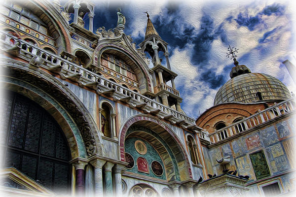 The Patriarchal Cathedral Basilica Of Saint Mark Photograph - Saint Marks Basilica by Lee Dos Santos