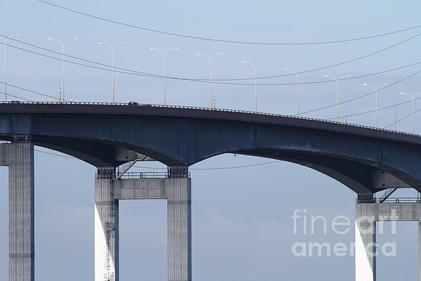 San Mateo Photograph - San Mateo Bridge In The California Bay Area 7d21910 by Wingsdomain Art and Photography
