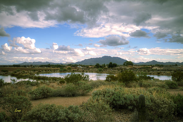 Mountains Photograph - San Tan Wide by George Lenz