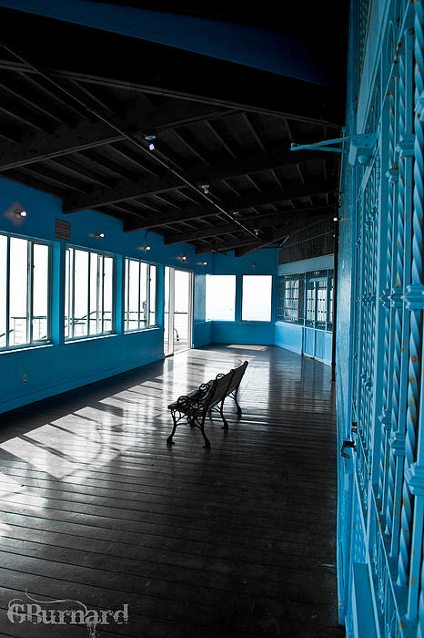 Santa Monica Pier Blue Room Photograph  - Santa Monica Pier Blue Room Fine Art Print