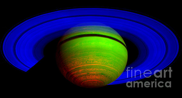 Paul Ward Photograph - Saturn In Color by Paul Ward