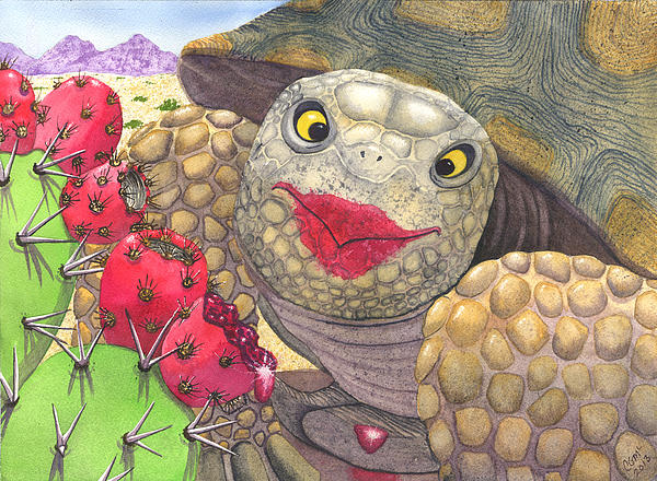 Tortise Painting - Scrumptious by Catherine G McElroy