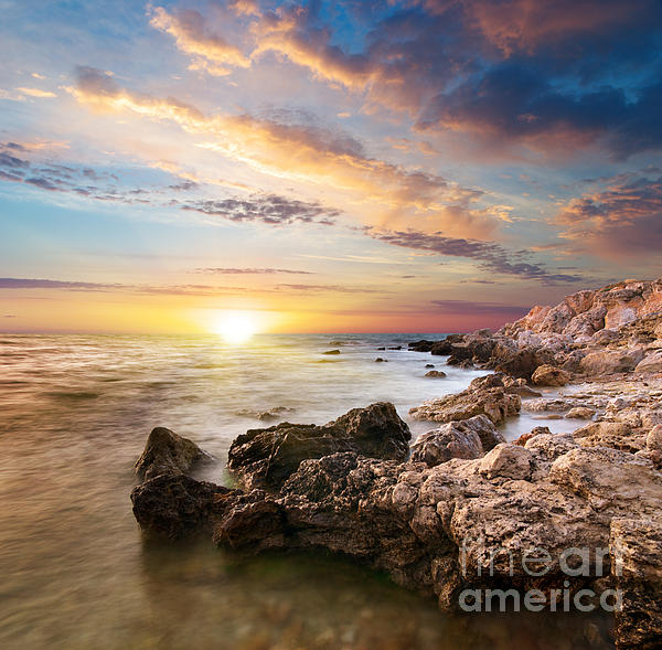 Sea  Photograph - Sea Stones by Boon Mee