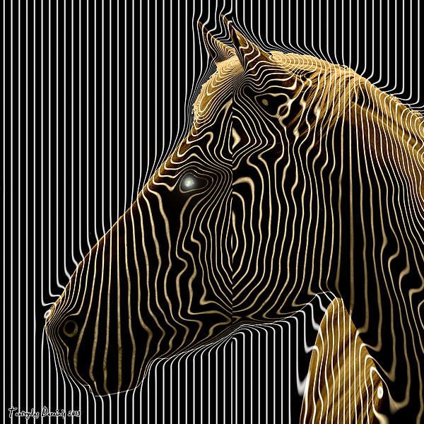 Original Works Signed Numbering Limit Canvas Digital Art - Self-conscious Attempt To Become Zebras.  2013  80/80 Cm.  by Tautvydas Davainis