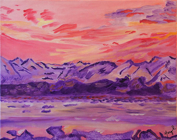 Mountains Painting - Serenity by Meryl Goudey