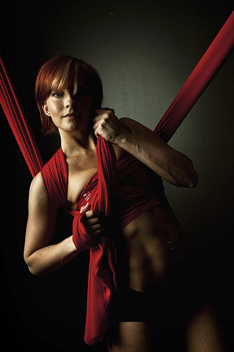Silk Photograph - Series In Red Silk Knot by Monte Arnold