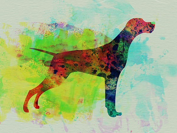 Setter Pointer Painting - Setter Pointer Watercolor by Naxart Studio