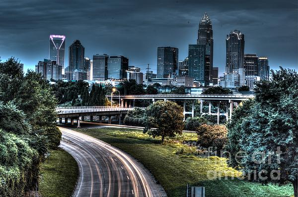 Sexy Skyline Of Charlotte  Photograph  - Sexy Skyline Of Charlotte  Fine Art Print