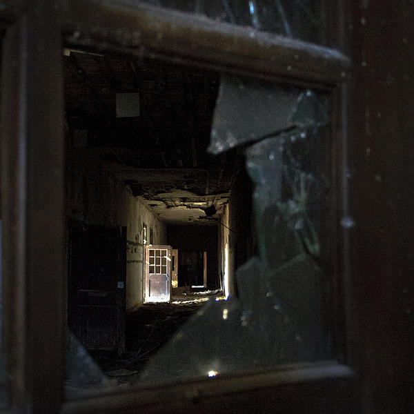 Urban Decay Photograph - Shattered View by Tanya Jacobson-Smith