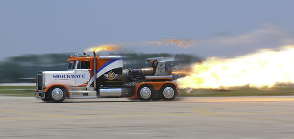 Jet Powered Truck Photograph - Shockwave by Mike McGlothlen